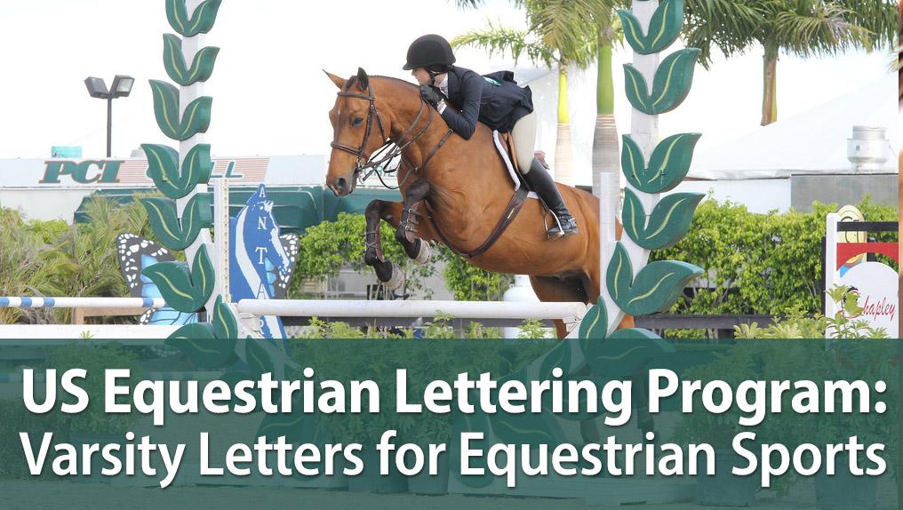 US Equestrian Lettering Program: Varsity Letters for